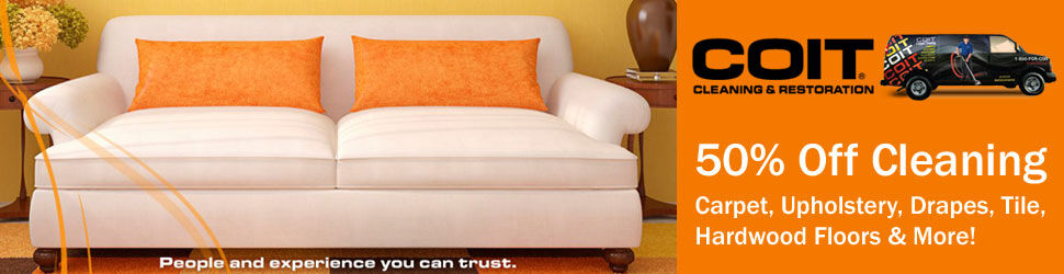 50% Off Carpet Cleaning by COIT Cleaning & Restoration