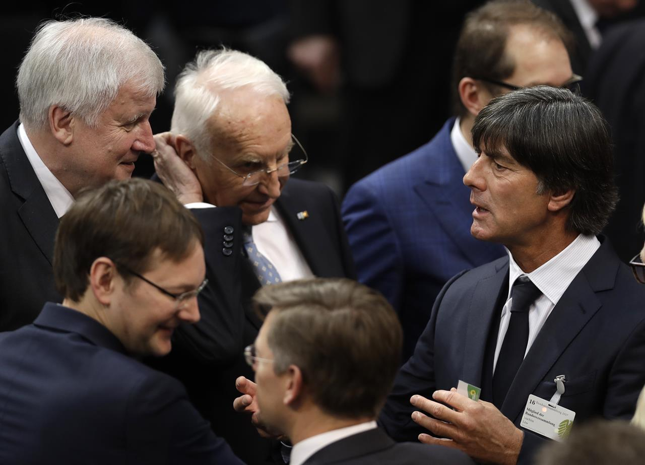 Image result for Horst Seehofer and germany head coach