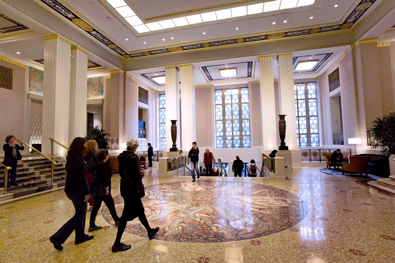 nyc landmarks art deco interiors of waldorf astoria - minneapolis, mn