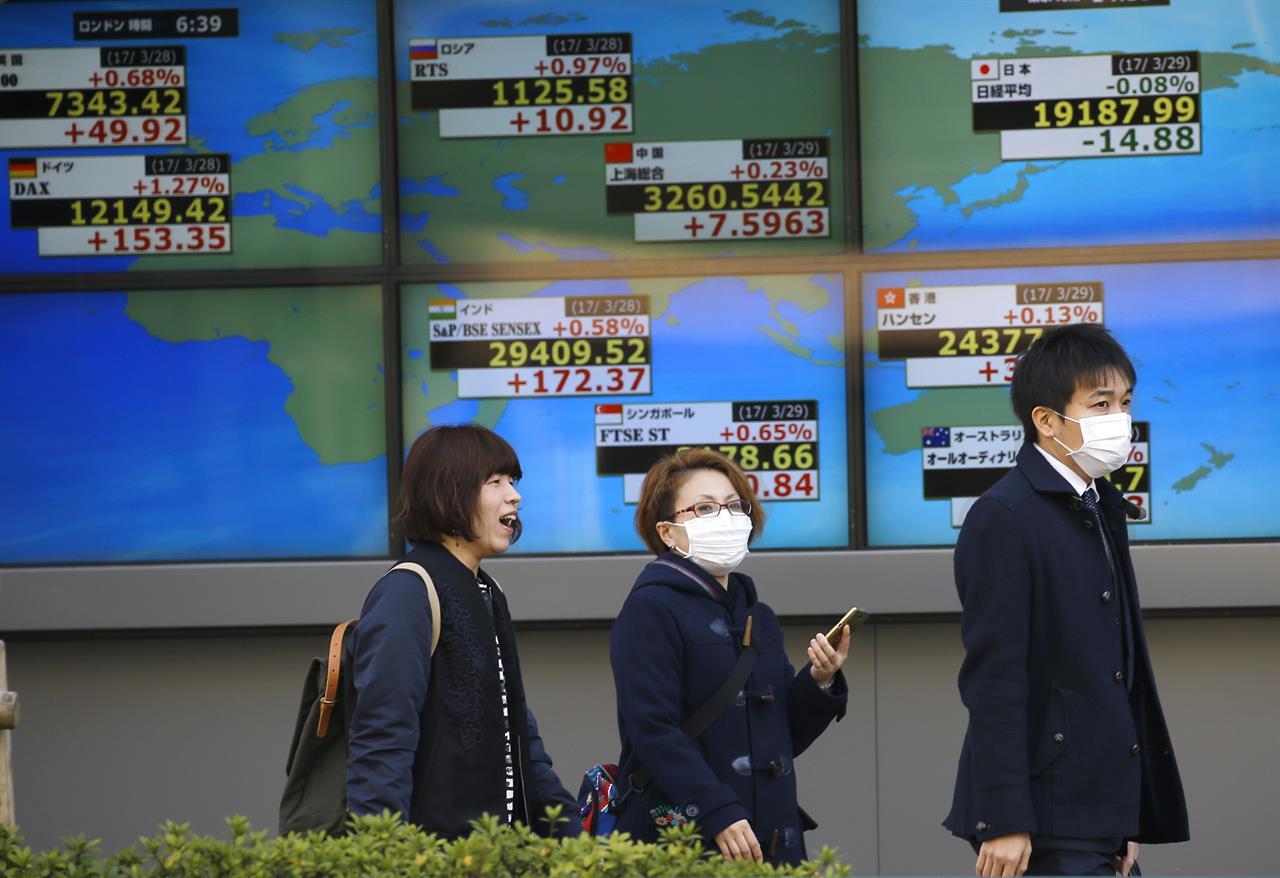 Asian stocks drift lower after lackluster Wall Street finish