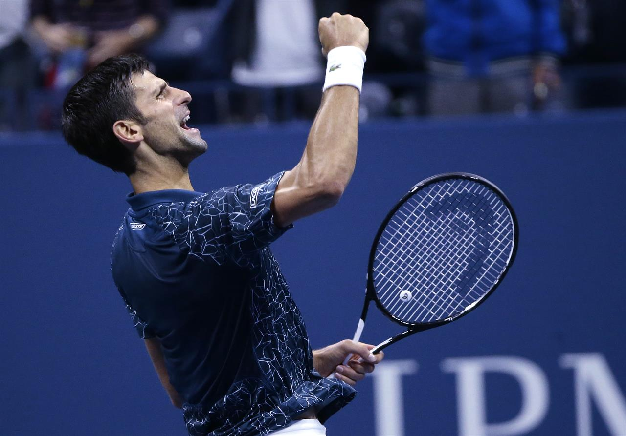 Ebab Novak Djokovic Juan Martin Del Potro  Open Final