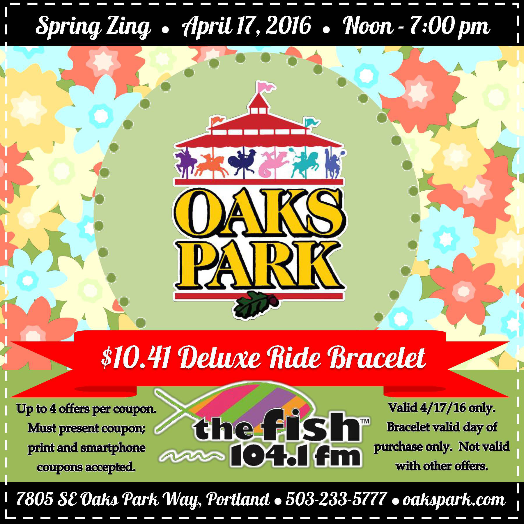 Oaks park discount coupons