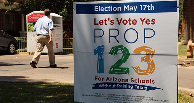 Voters split on Prop 123, which holds narrow lead