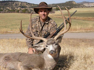 Phillip Naman with a deer
