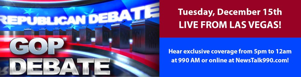 Hear GOP Debate LIVE on NewsTalk 990!
