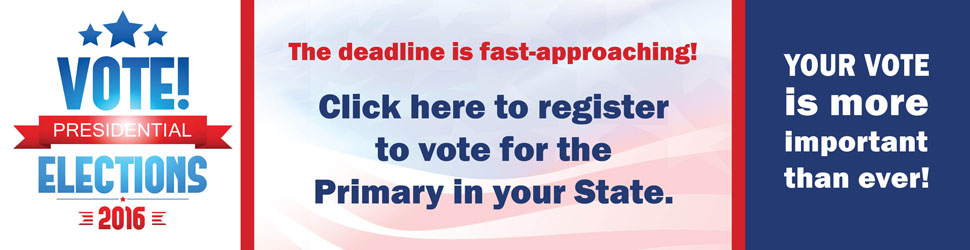 Click here to register to vote in the Primary!