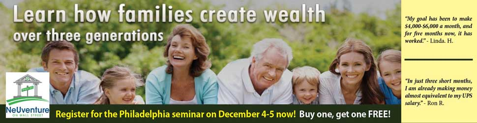 Learn to build wealth at NeUventure's seminar!