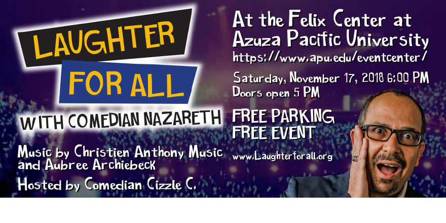 free comedy event laughter for all