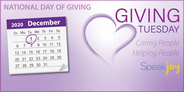 Help Meet a Need during the National Day of Giving - Tuesday, December 1