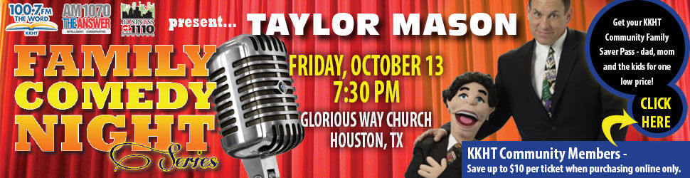 Taylor Mason - comedian, ventriloquist and musician - coming to Houston!