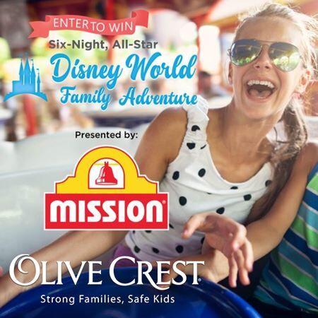 Support Olive Crest And Be Entered to Win A Six Night All-Star Disney Family Adventure.