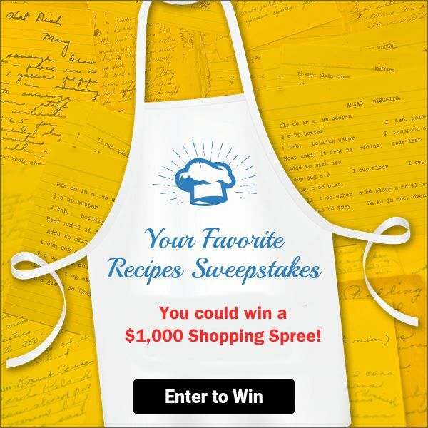 Enter The Your Favorite Recipes Sweepstakes