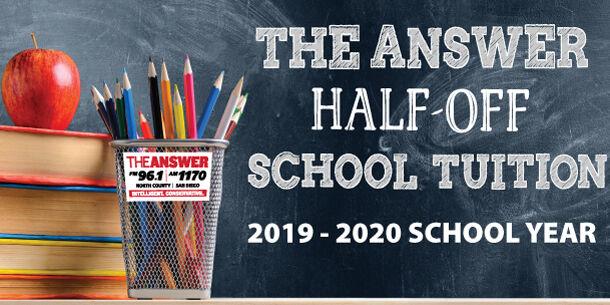 Half-Off Tuition | The ANSWER San Diego | FM 96 1 AM 1170