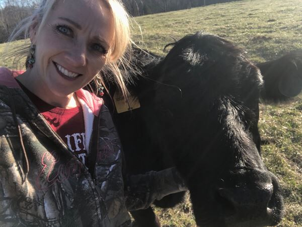 Joleen with one of her cows