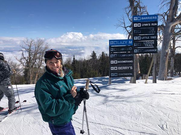 Joleen skiing in Wyoming
