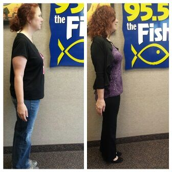 Gina 39 s before and current weight loss pics 95 5 the fish for The fish 95 5