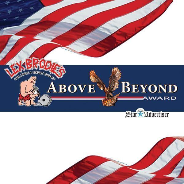 Lex Brodie's Above & Beyond Award