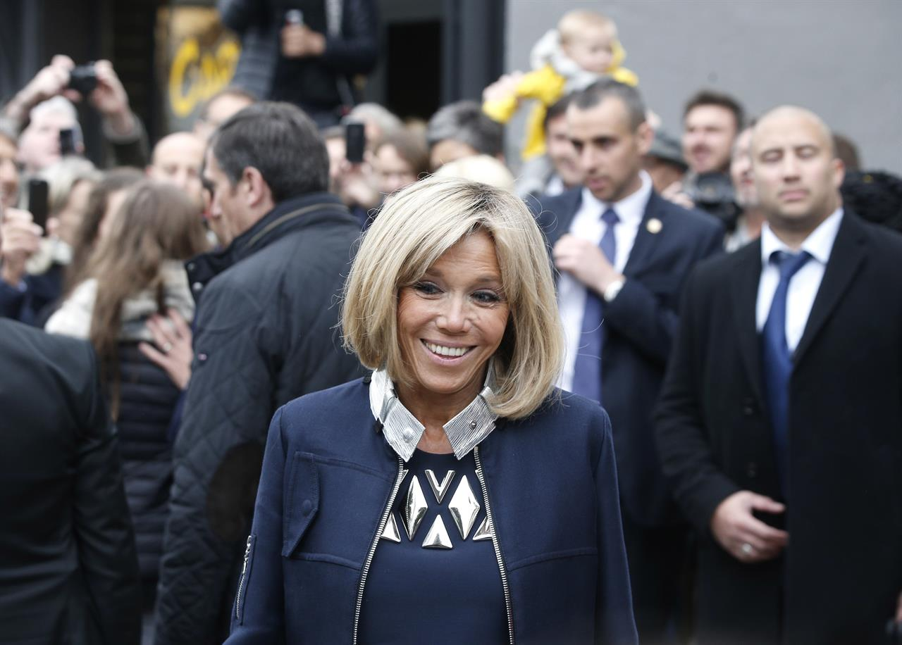 Banker economic adviser and now youngest french president for Brigitte camus