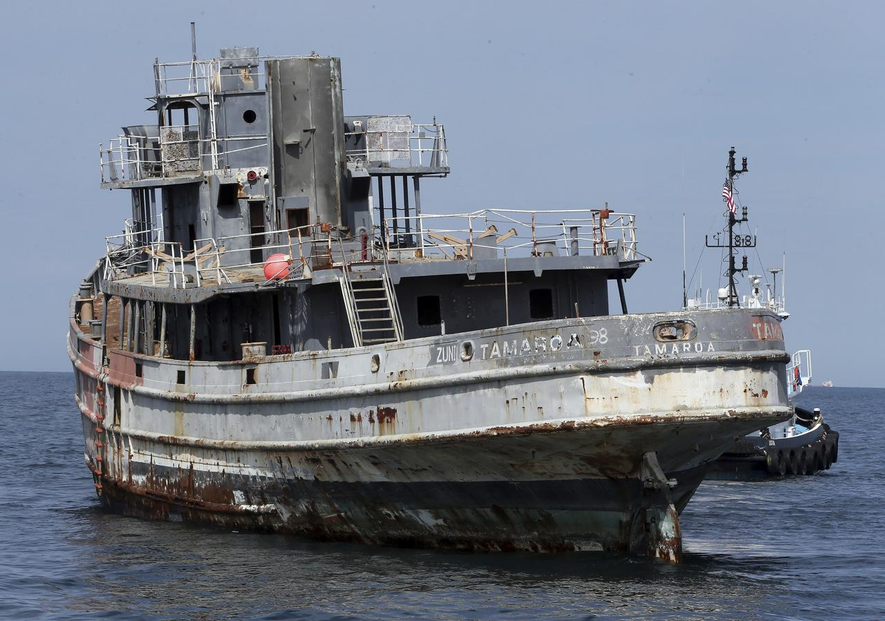 'Perfect Storm' ship sunk, becomes part of artificial reef ...