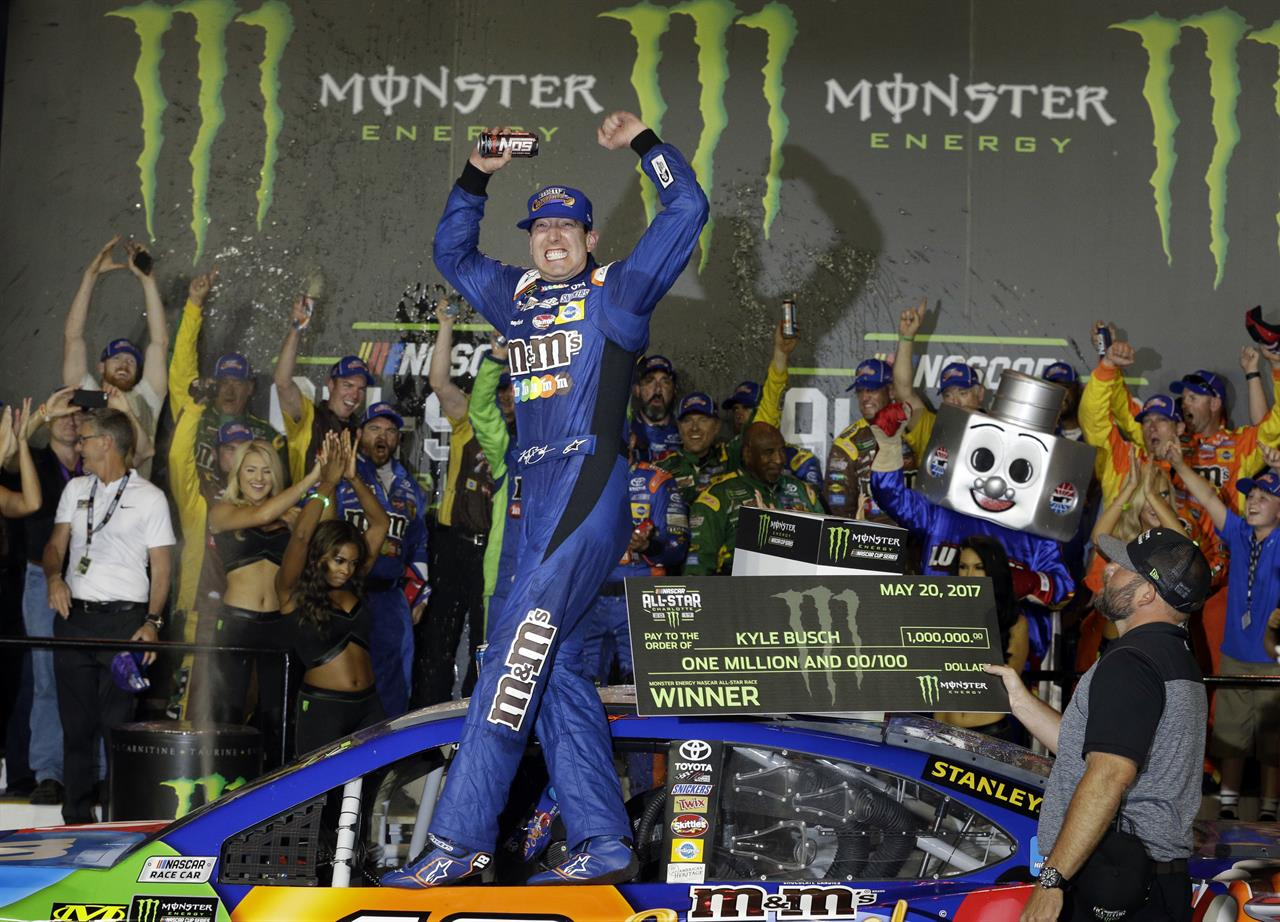 kyle busch scores 1 million with all star race victory
