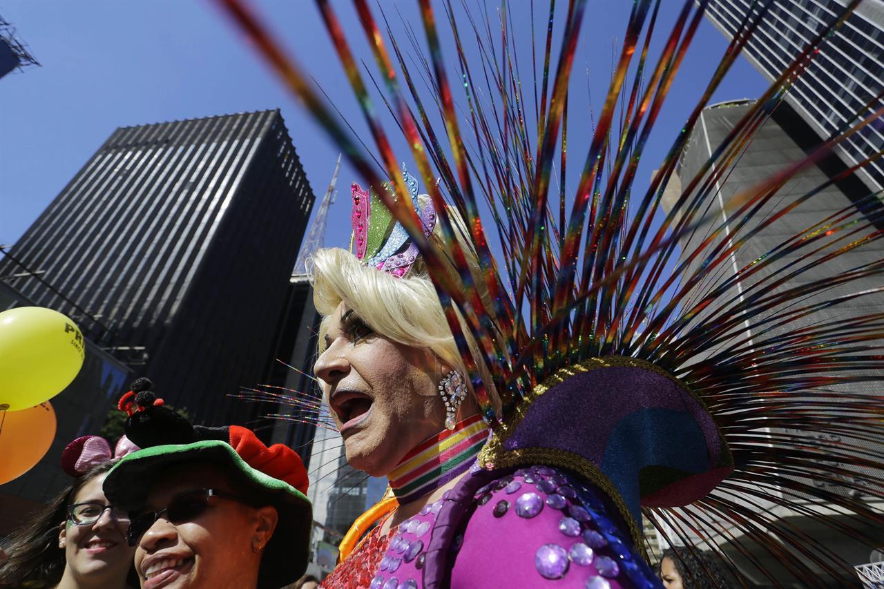 Image result for Hundreds of thousands for Brazil gay parade, world's biggest