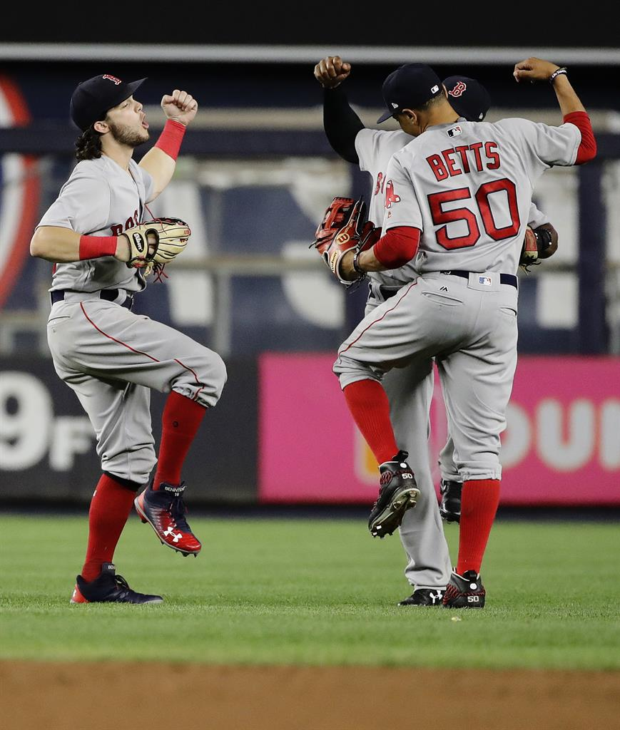Red Sox Rookies Devers, Benintendi Key Win Over Yanks In