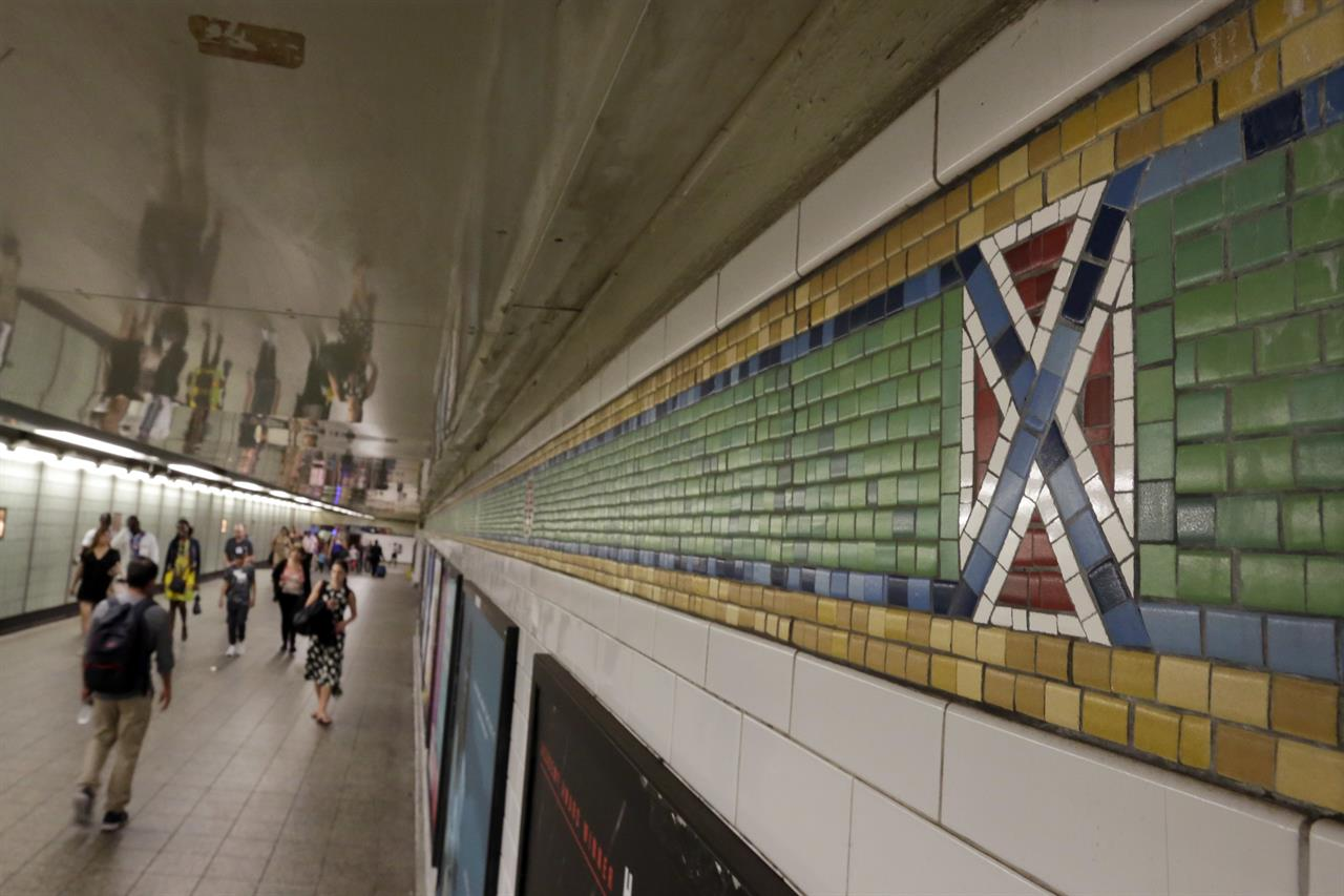 Ny subway tiles with confederate flag look to be altered new york ny ny subway tiles with confederate flag look to be altered dailygadgetfo Choice Image