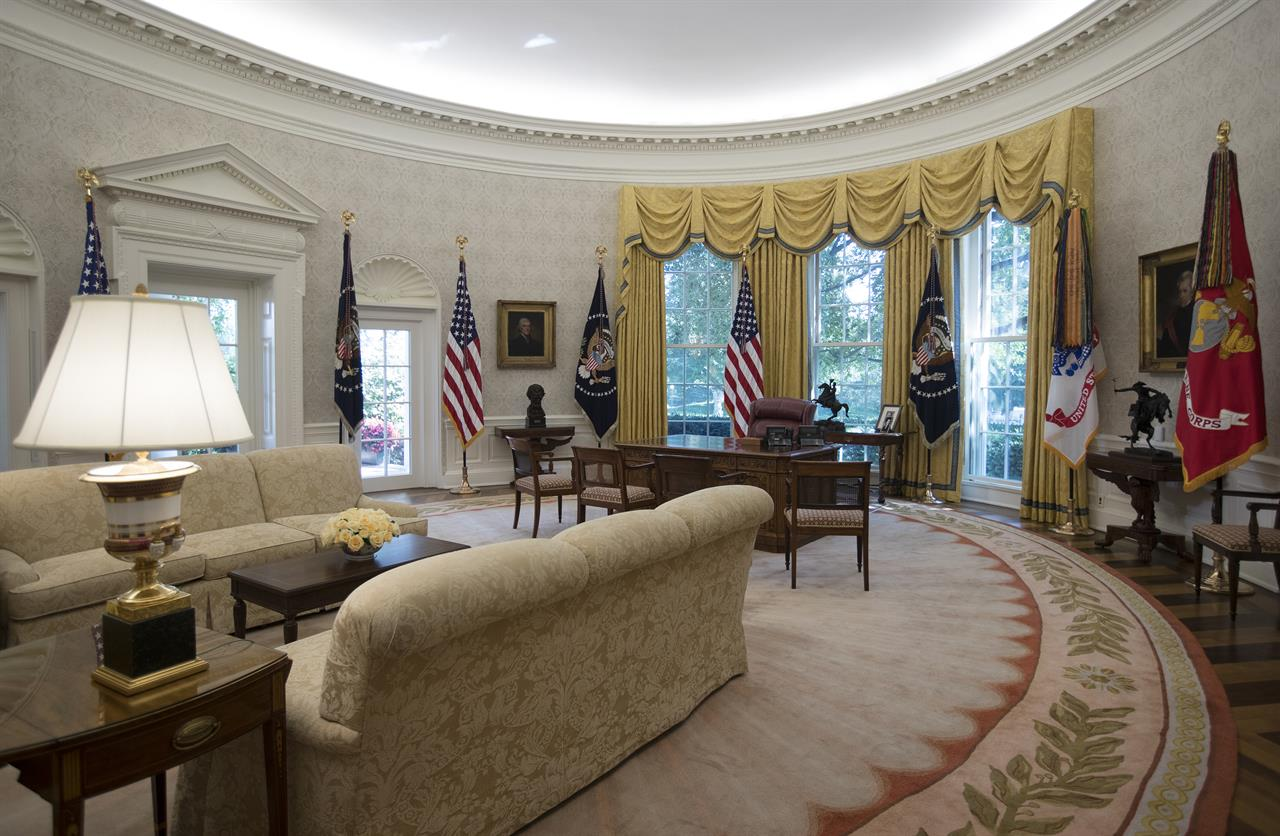west wing oval office. West Wing Update Includes New Paint, Carpet And Eagles Oval Office P