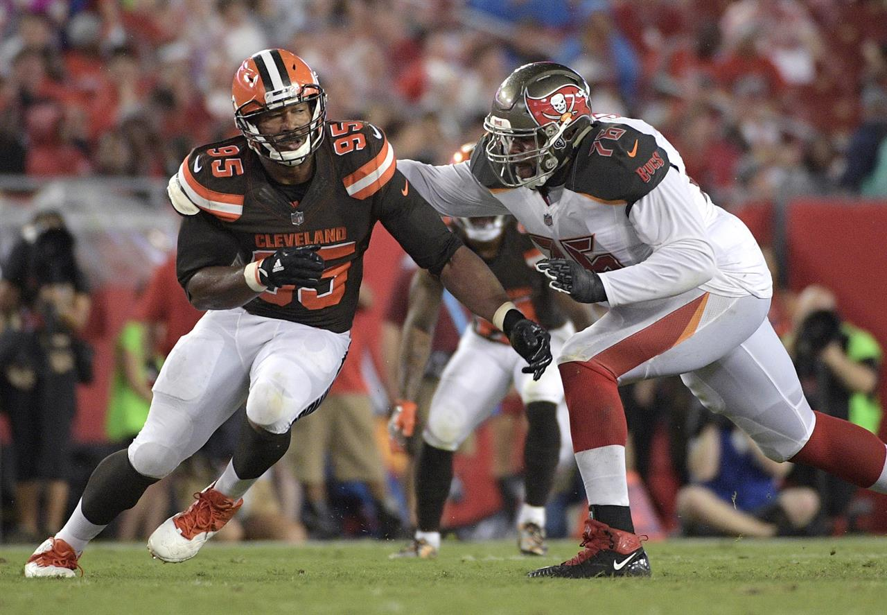 Cleveland Browns Myles Garrett And Denzel Ward Selected: Sacked: Browns Rookie Garrett Out Weeks With Ankle Injury