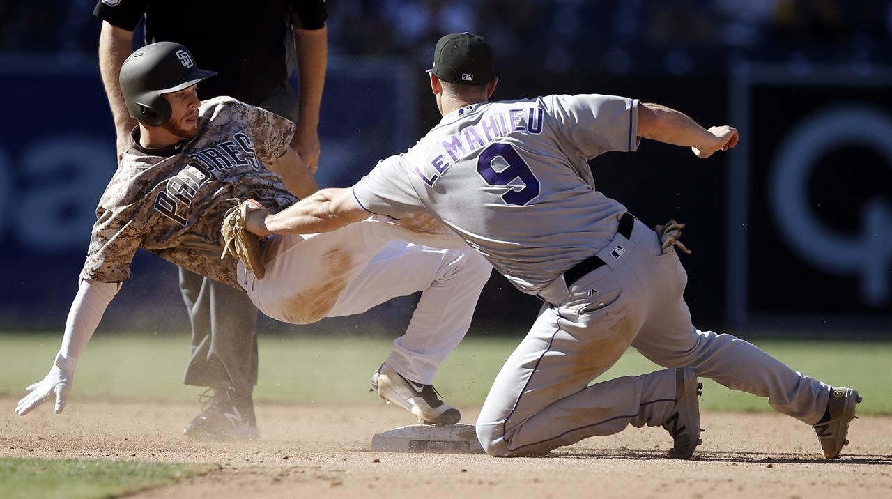 Rockies beat Padres 8-4, open 2-game lead for last wild ...