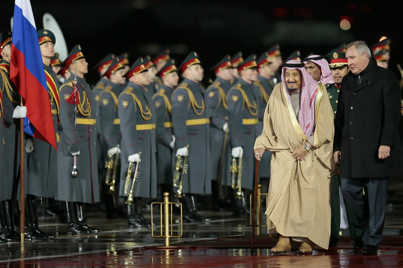 saudi king arrives in moscow on historic 1st visit to russia