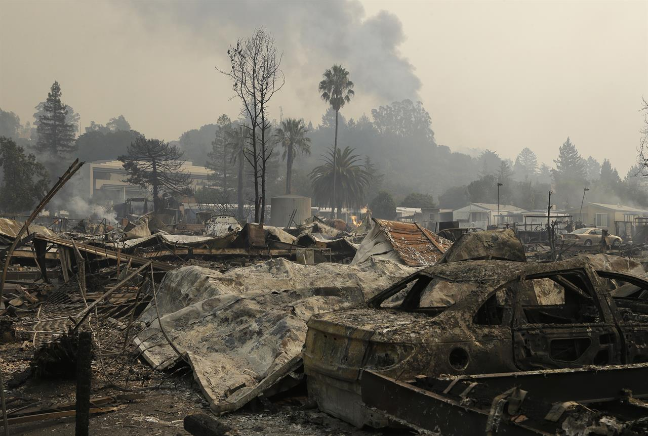 Wildfire On California Trailer Park In Blink Of An