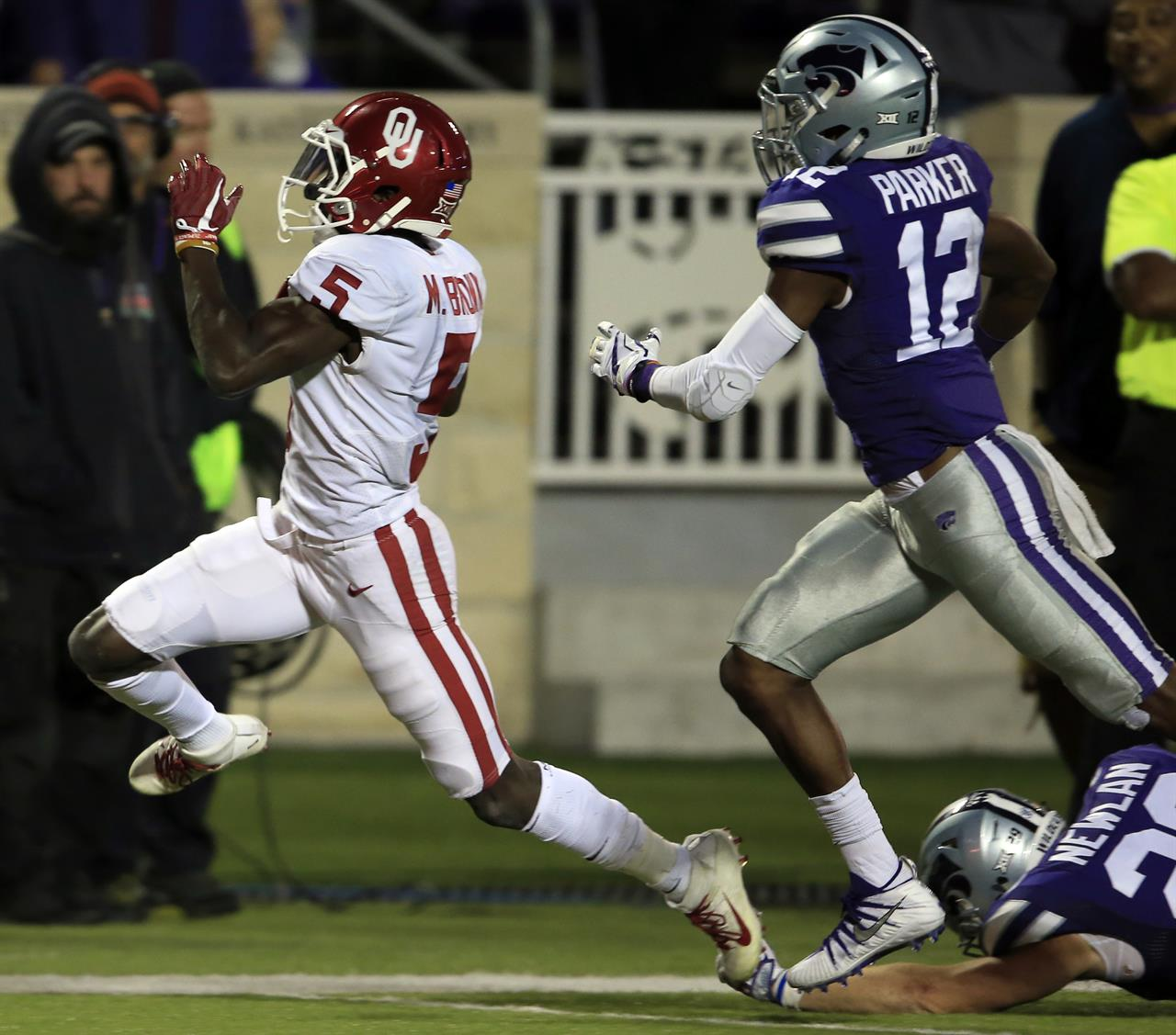 Mayfield, Anderson Lead No. 9 Sooners Past K-State, 42-35