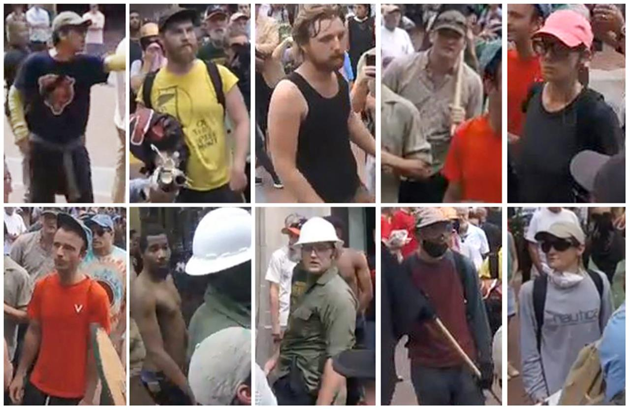 10 suspects wanted in assault day of Charlottesville rally | The