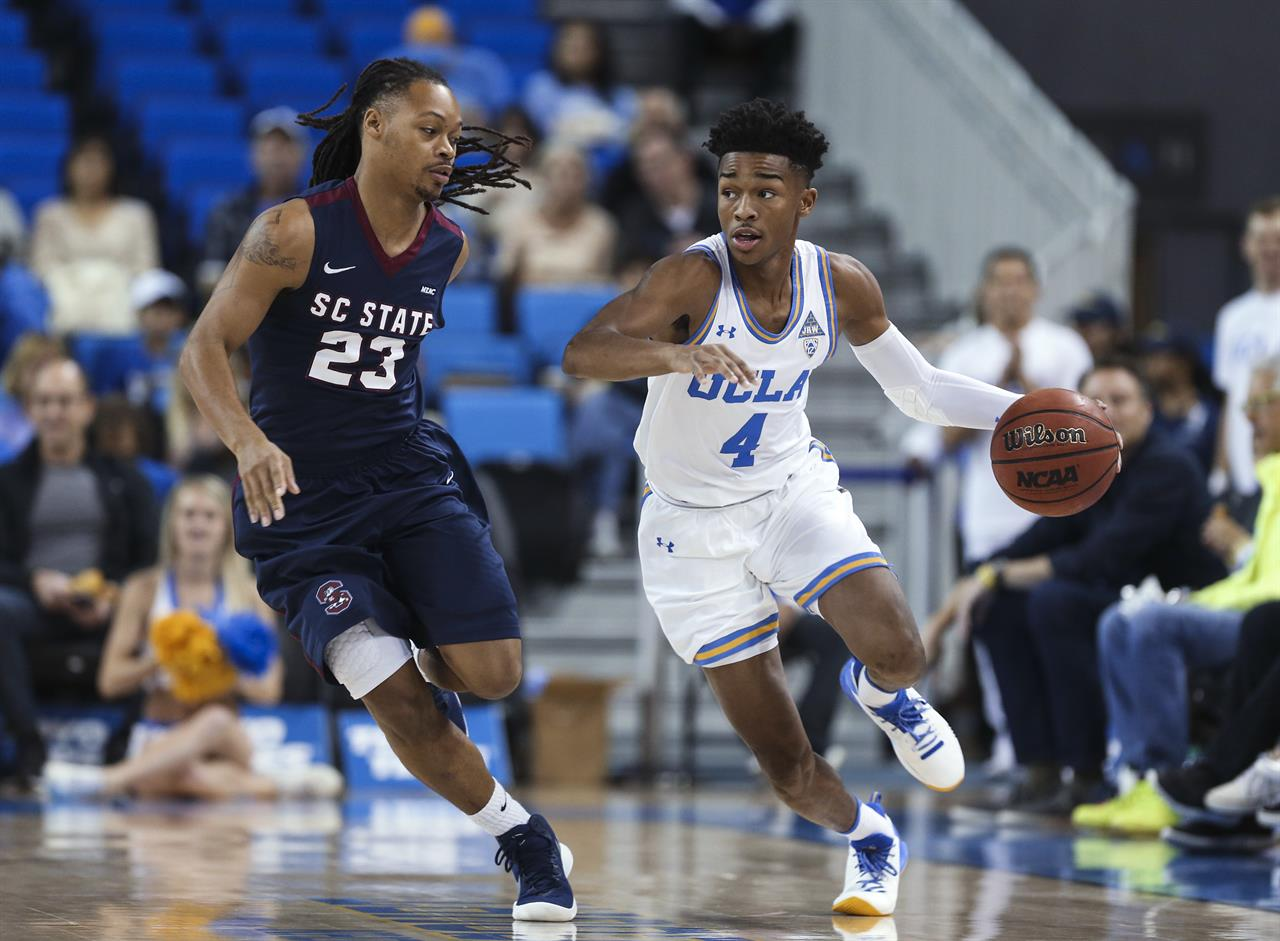 171cde4670d No. 23 UCLA routs South Carolina State 96-68 behind 3 frosh