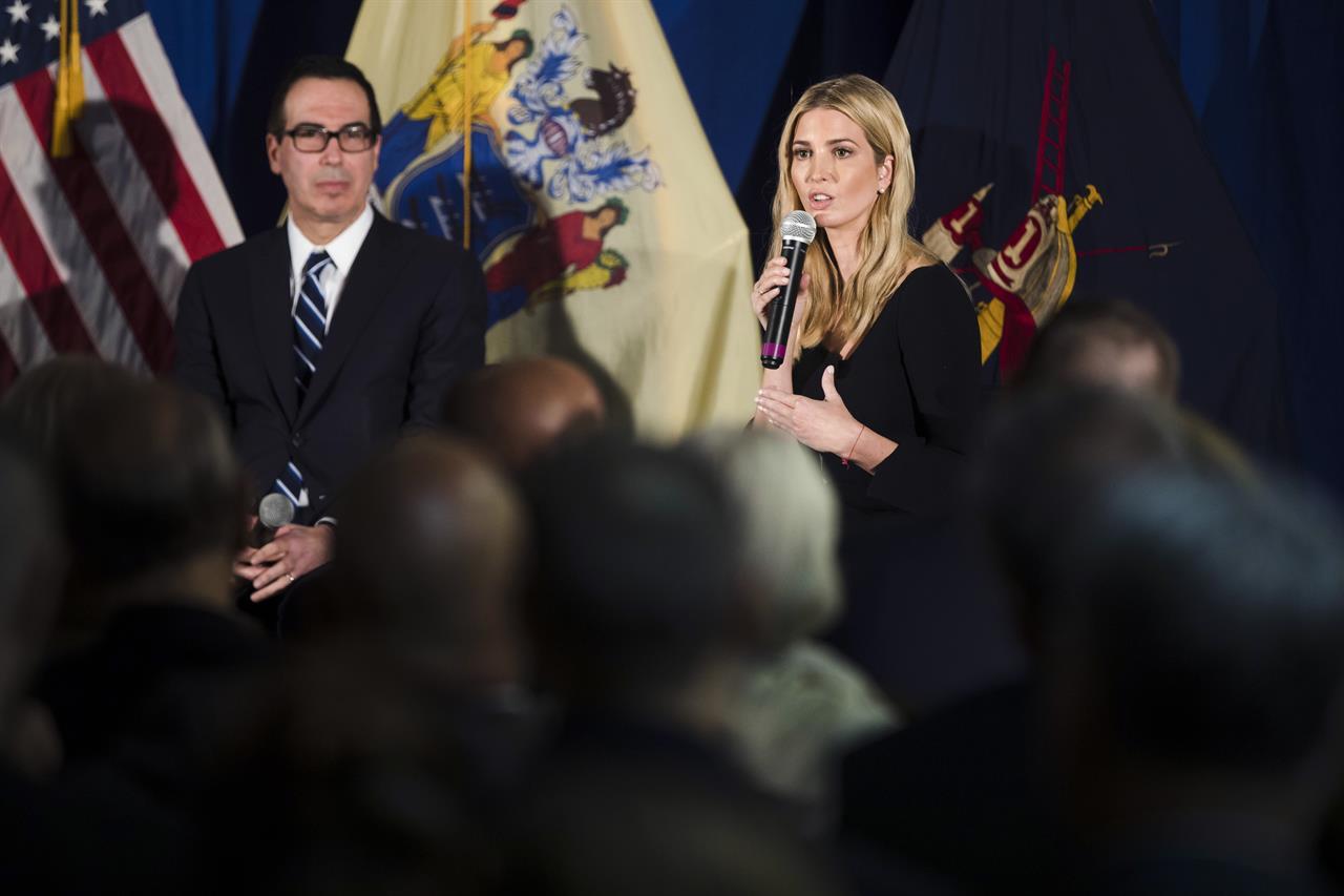 Treasury chief cites good talks on taxes with GOP senators