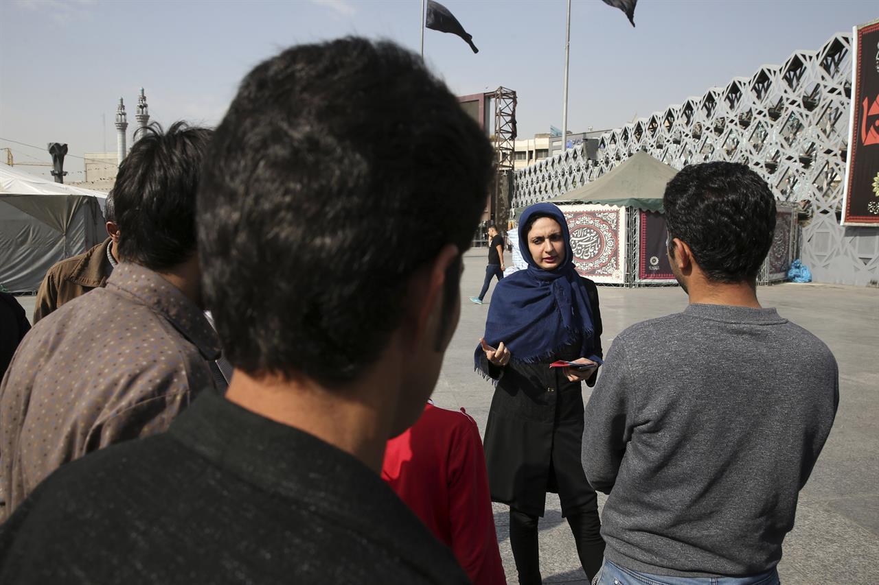 Teen girls in Tehran