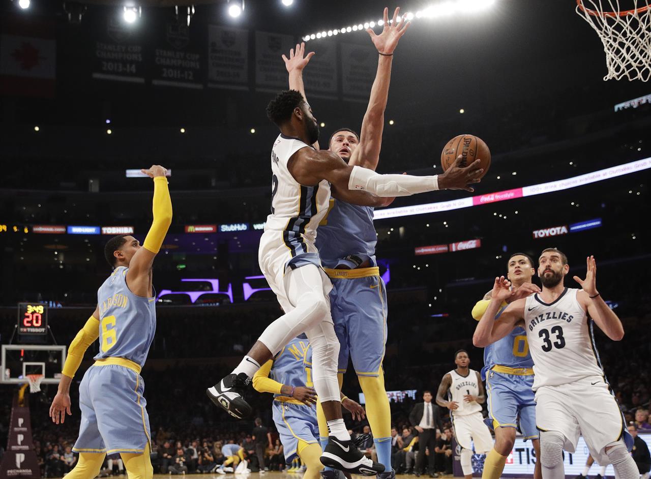 Evans 32 points lead Grizzlies past Lakers, 109-99 | AM ...