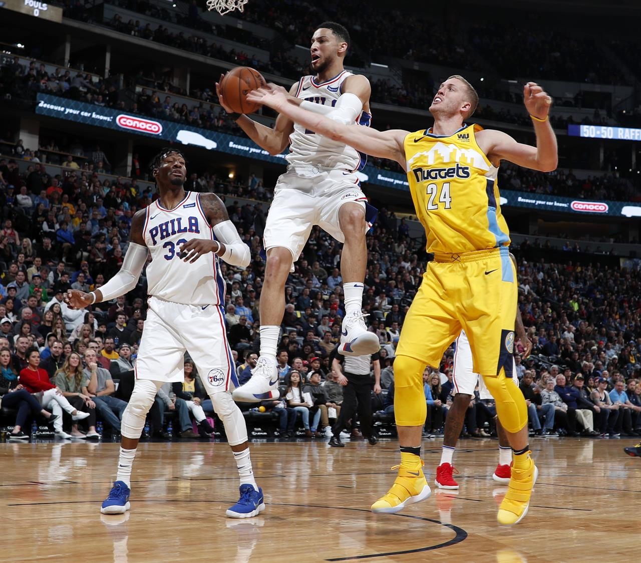 Denver News Nuggets: Bayless Lifts Embiid-less 76ers Over Nuggets 107-102