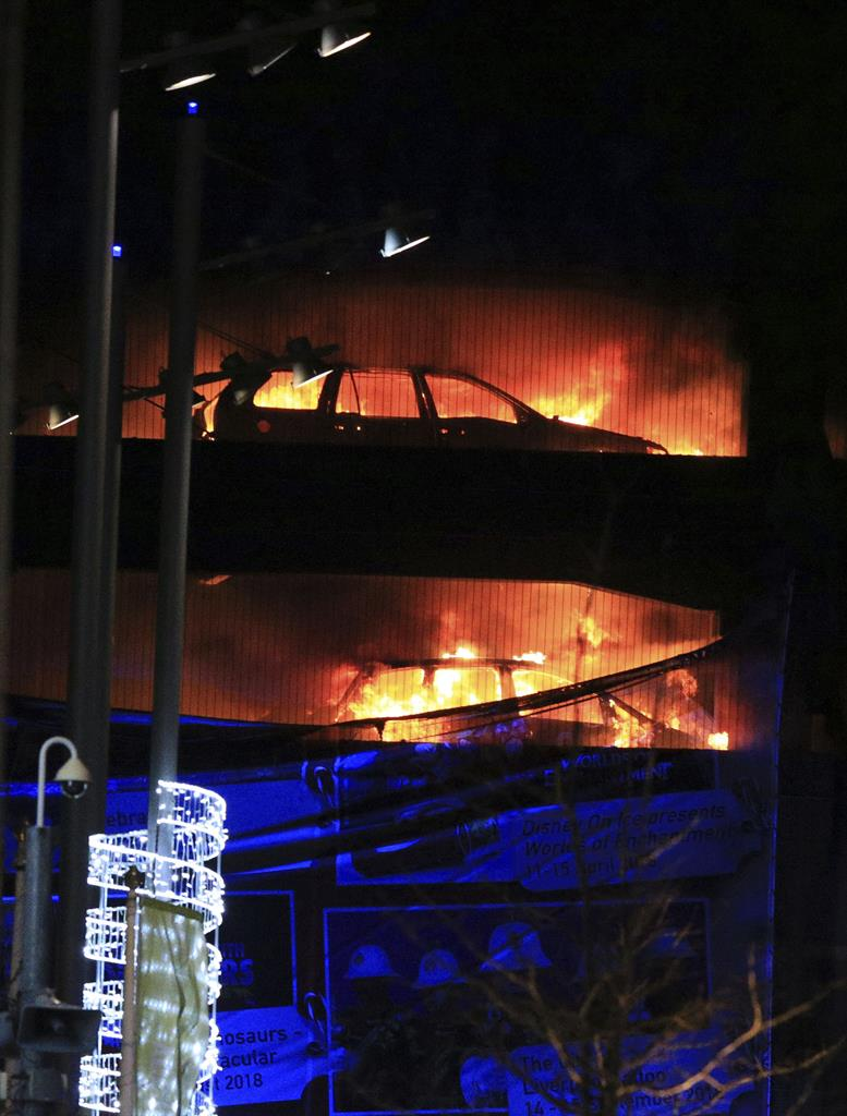 parking garage fire destroys roughly 1,400 of cars in uk | kdow-am