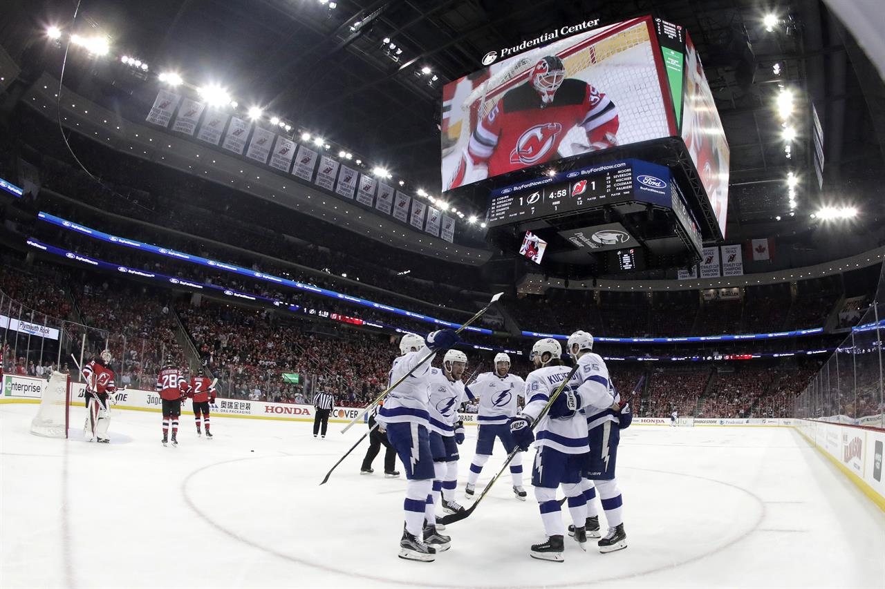 kucherov leads way as lightning take 3 1 lead over devils money