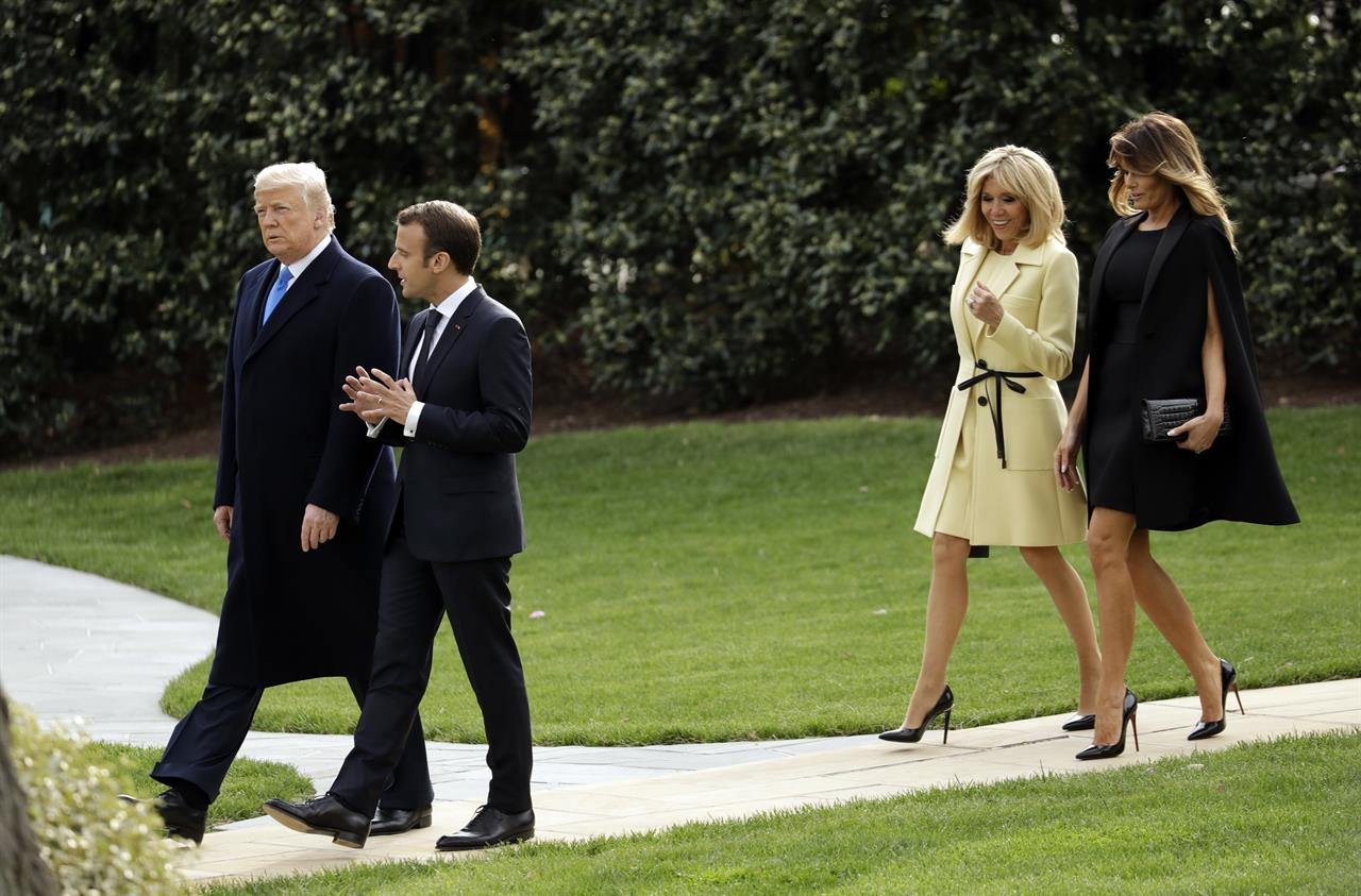 The latest trump macron return to white house after for Did george washington live in the white house