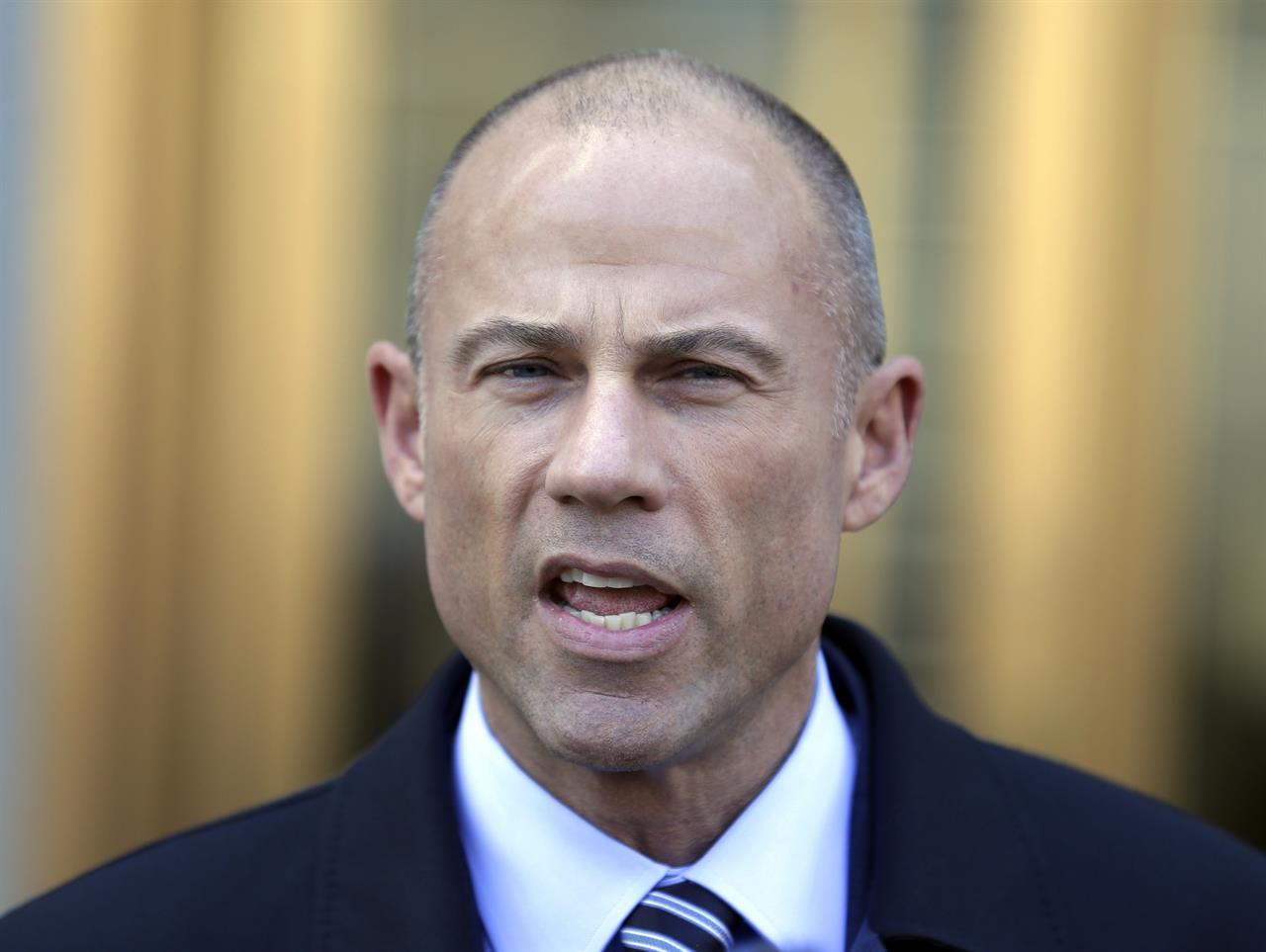 File In This Thursday April 26 2018 File Photo Michael Avenatti Stormy Daniels Attorney Talks To Reporters Outside Of Federal Court In New York