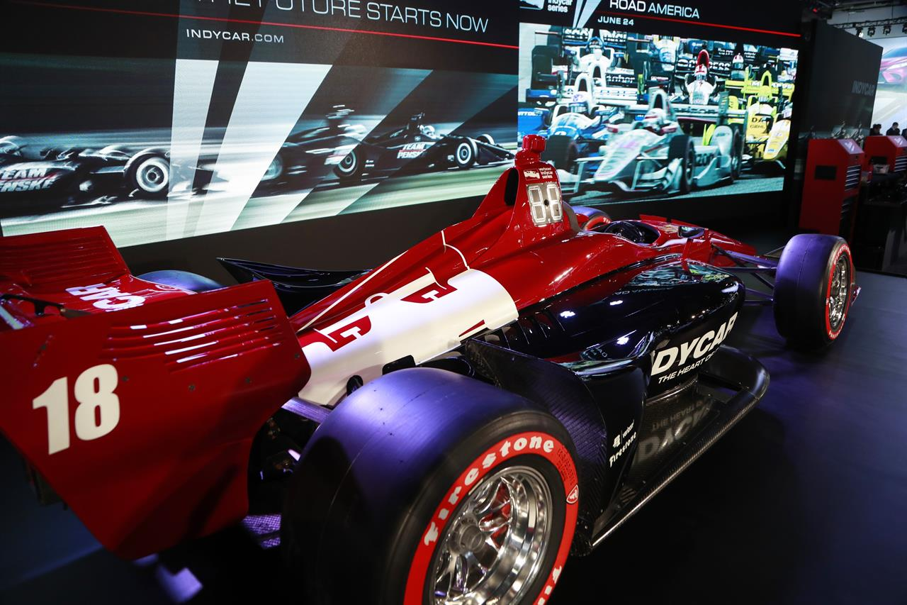 IndyCar Unveils Race Car At Auto Show In Detroit AM The - Upcoming auto shows