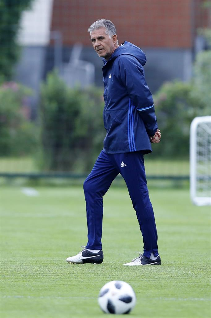f390ea7fe Iran s national football team Head coach Carlos Queiroz during a training  session of Iran at the 2018 soccer World Cup in Moscow