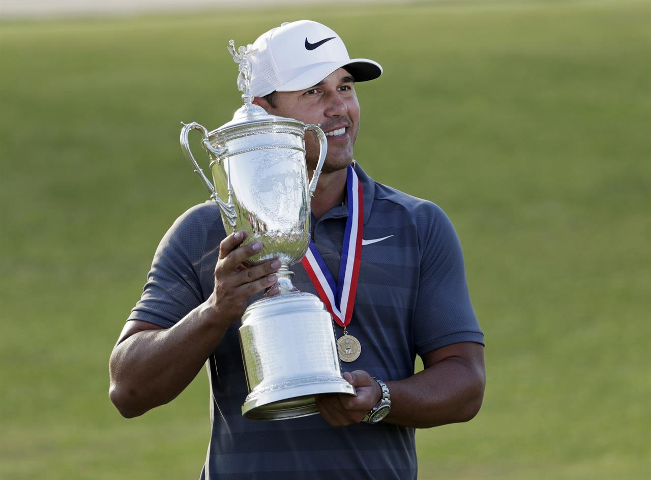 Image result for brooks koepka 2018 Open Golf Champion with Trophy