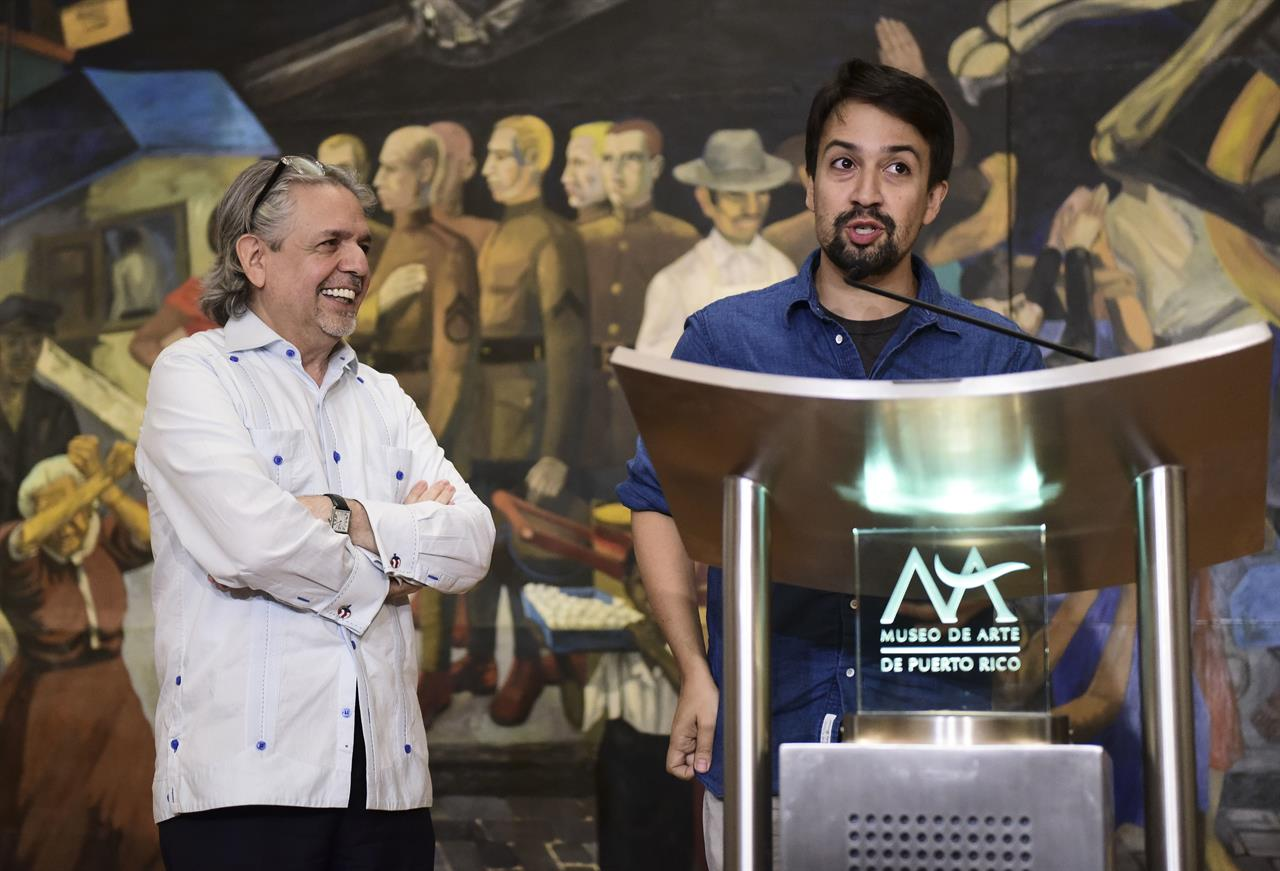 Hamilton' creator announces arts fund for Puerto Rico | AM