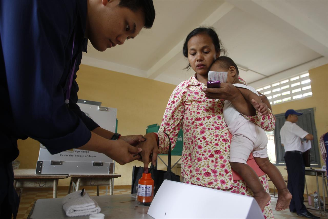 The Latest: US regrets flawed Cambodian vote, weighs options
