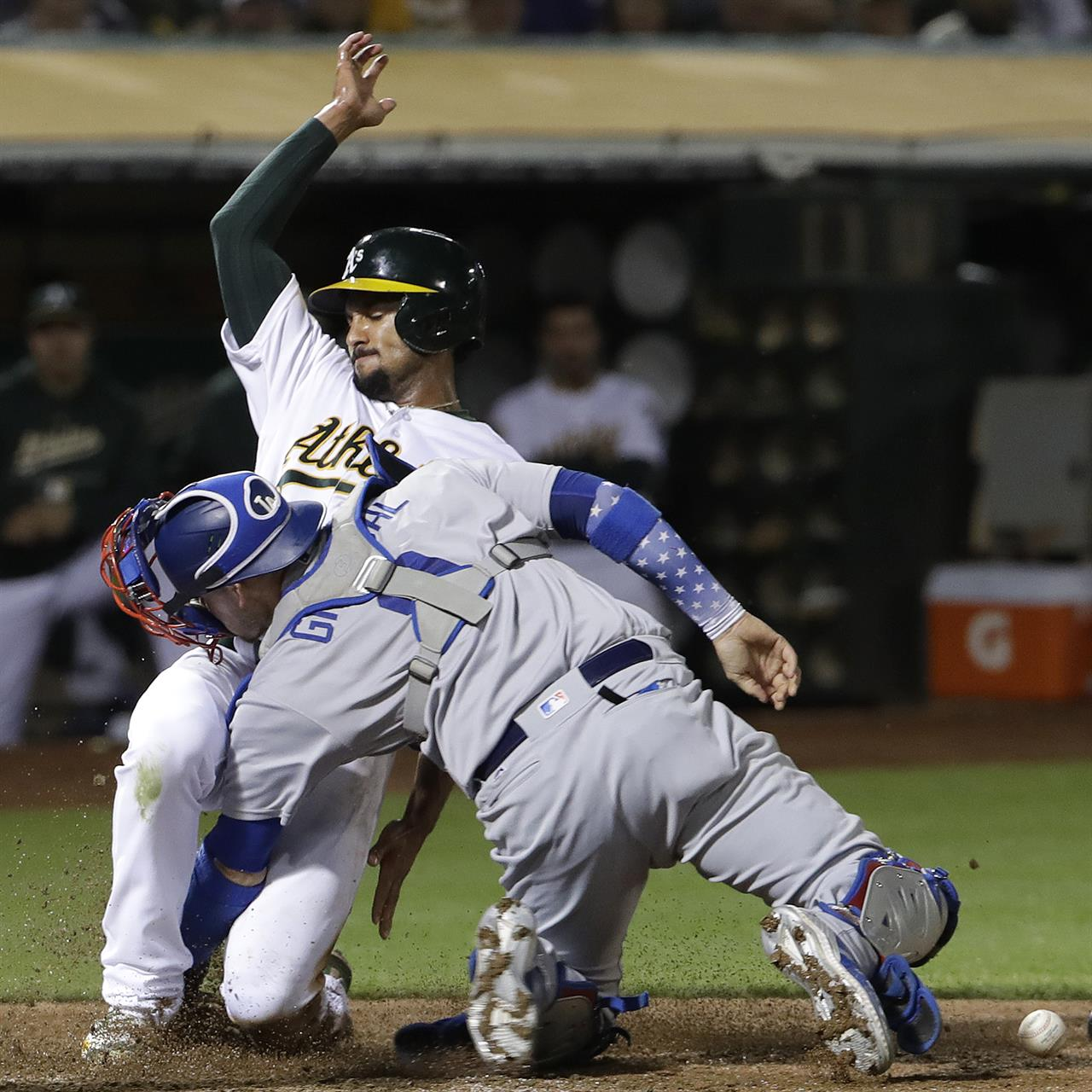 Fiers Solid In Debut As A's Top Dodgers 3-2