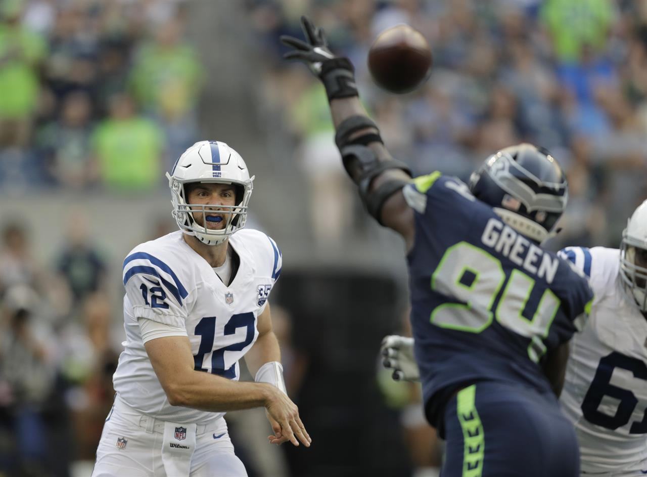 sneakers for cheap a53f0 7e51c Andrew Luck makes return as Colts beat Seahawks 19-17 ...